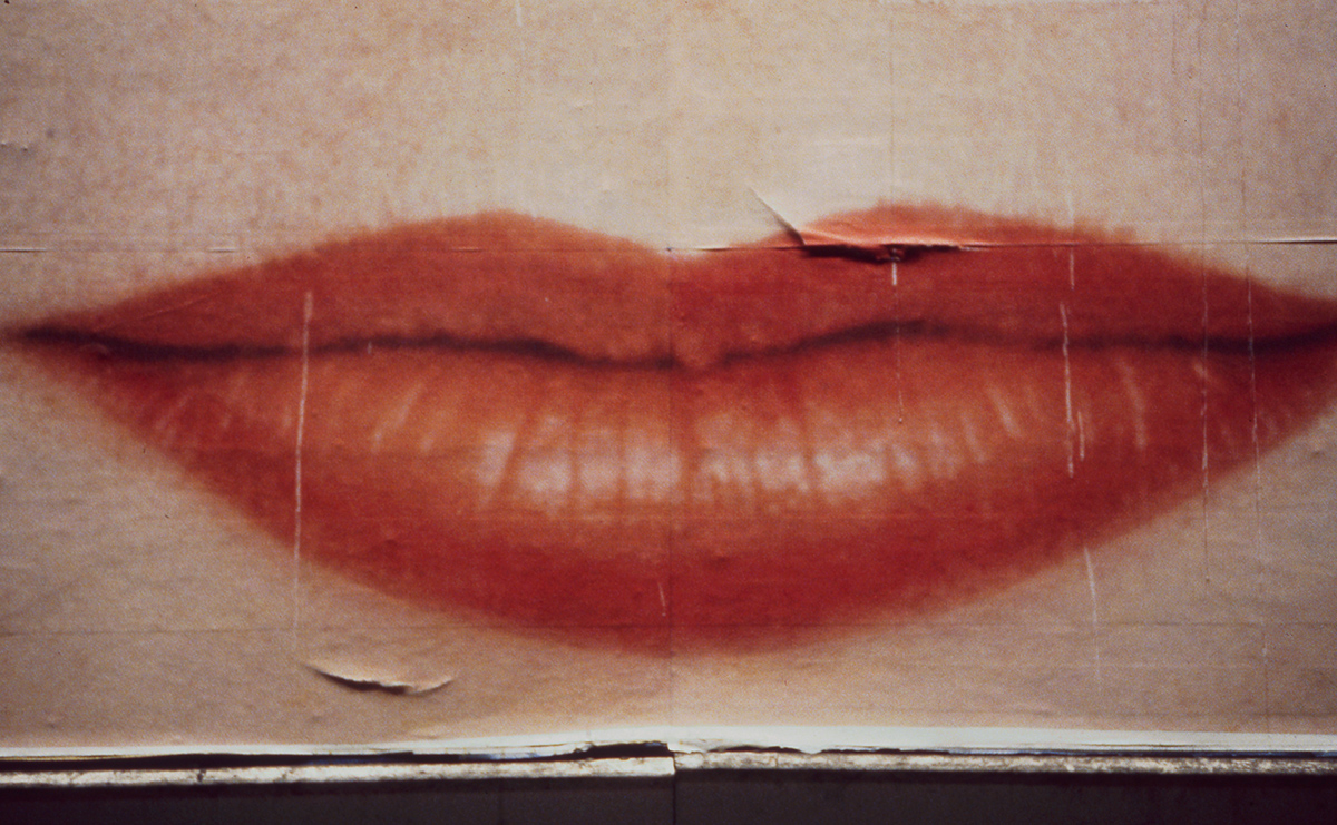 Big Billboard Lips, Los Angeles, CA 1982 - Tim Trompete