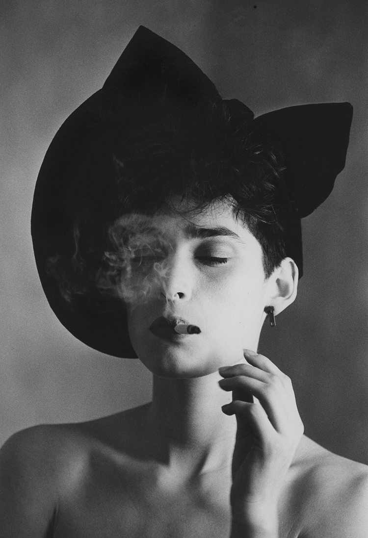 Melody in Black Chapeau and Zipper Earring, Rue du Ranelagh (Paris) 1983 - Tim Trompeter