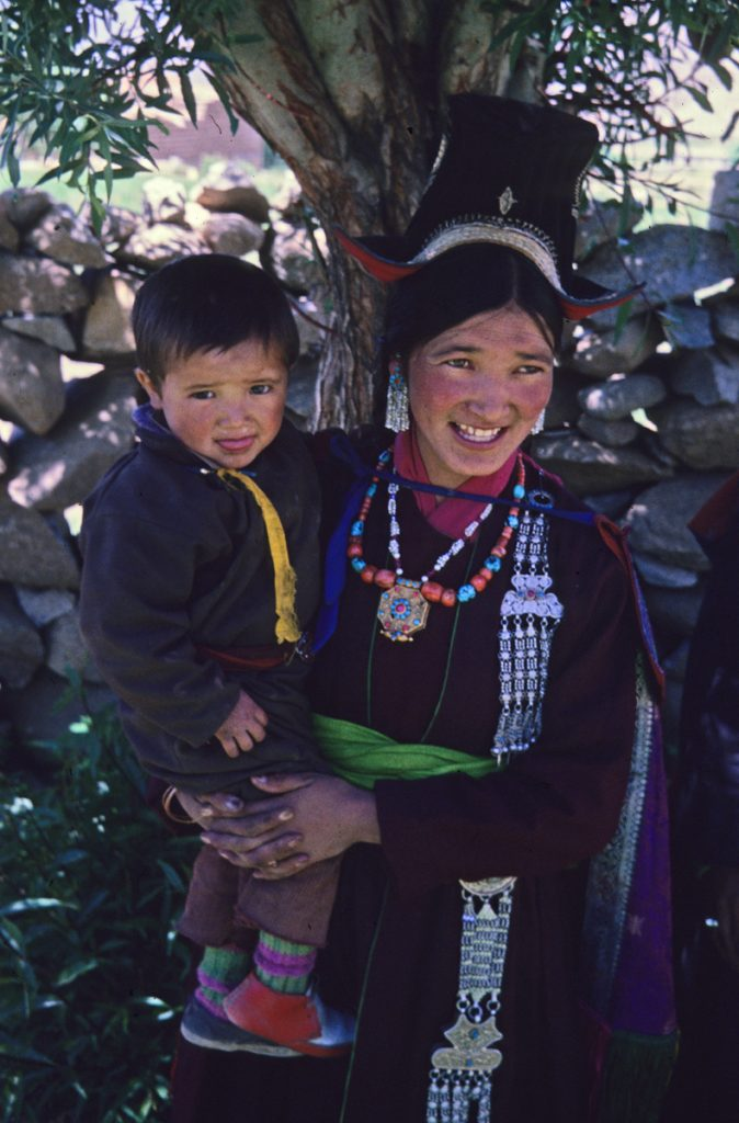 Charol and son, Shankar Village, Leh, Ladakh 1978 - Tim Trompeter