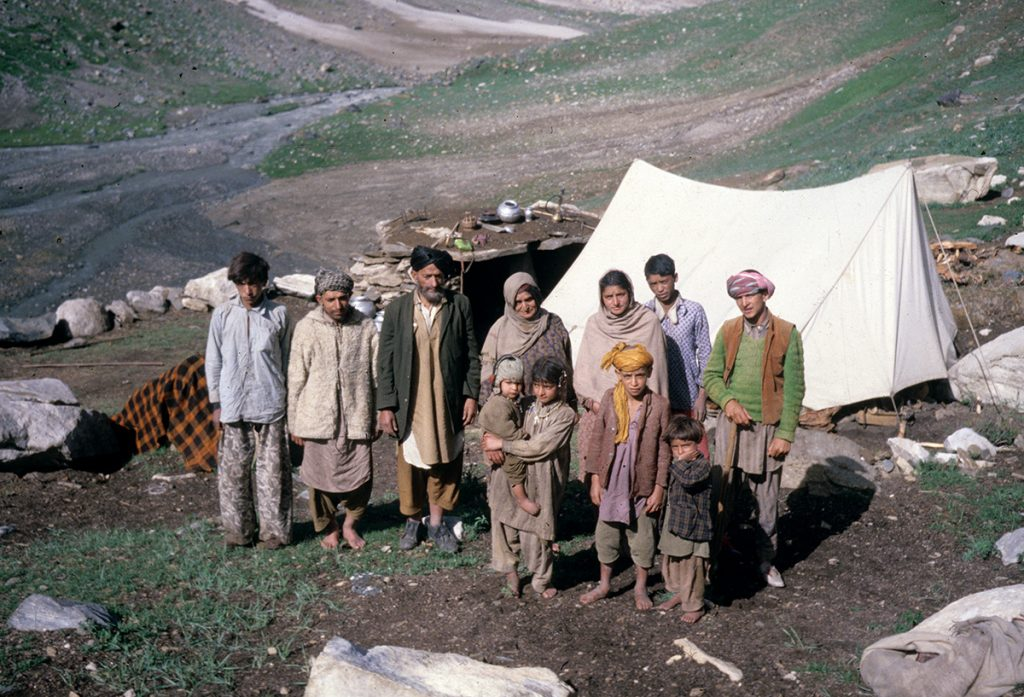 Shepherd family, high in the Donara Valley, Jammu and Kashmir 1978 - Tim Trompeter