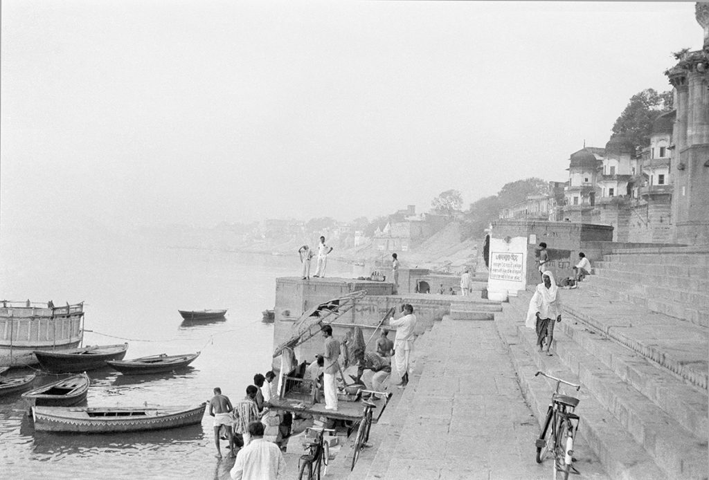 Dawn on the Ganges, Varanasi, India 1978 - Tim Trompeter