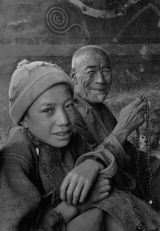 Fellow visitors to Lingshed Gompa, Ladakh 1978 - Tim Trompeter