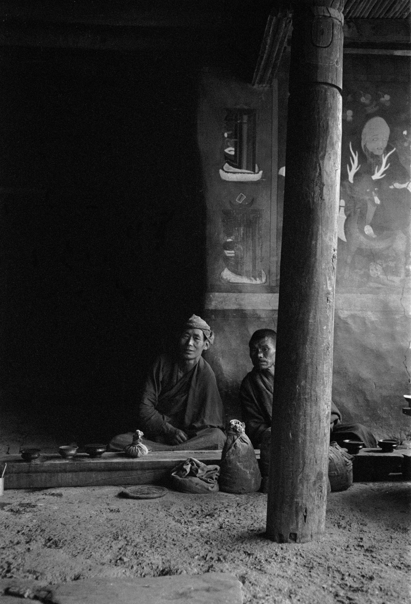 Monks, Lingshed Gompa, Ladakh 1978 - Tim Trompeter