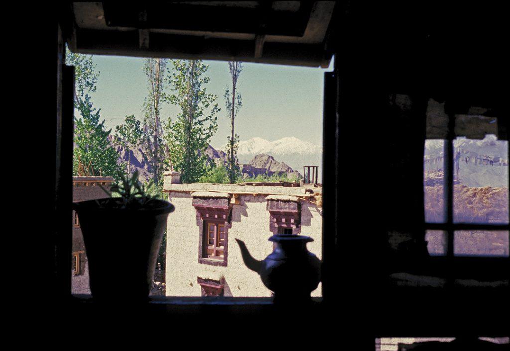 View from Chering's monastery window, Shankar Gompa, Shankar Village, Leh, Ladakh 1978 - Tim Trompeter