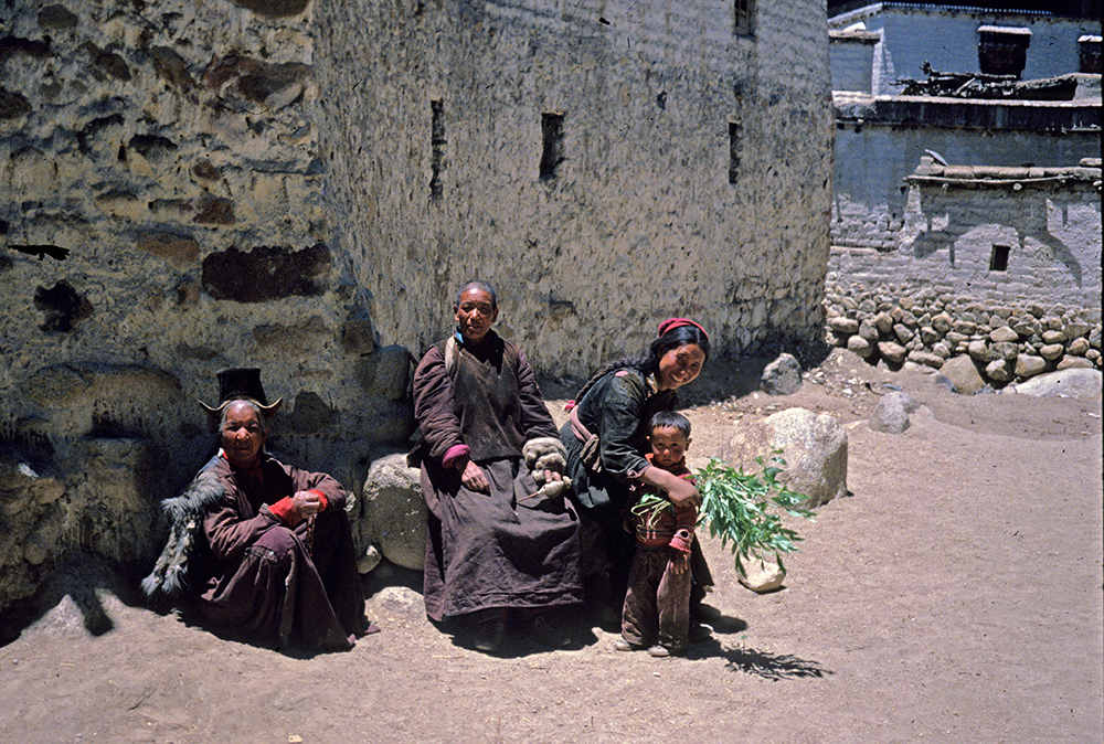 Enjoying the weather, Shankar Village, Leh, Ladakh 1978 - Tim Trompeter